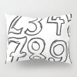crayon numbers Pillow Sham