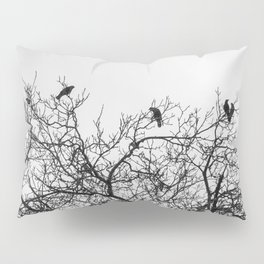 A murder of crows sitting in a tree Pillow Sham