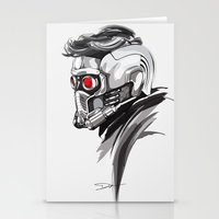 star lord Stationery Cards featuring Star Lord by Dik Low