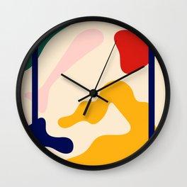 Happy Little Pattern I. Wall Clock