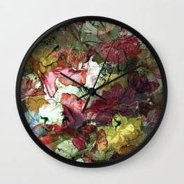 Groovy Floral Abstract Wall Clock