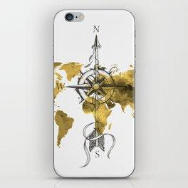 Gold World Map 2 iPhone Skin