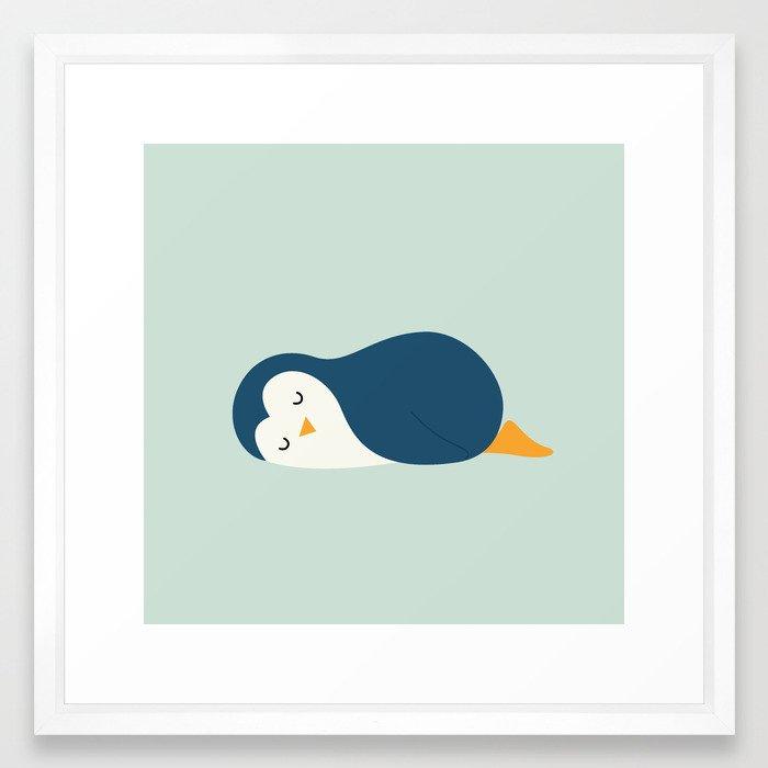 Little Blue Framed Art Print