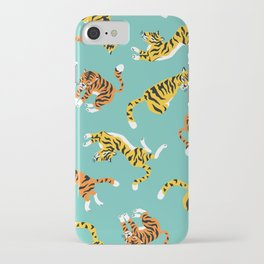 Lovely pattern with tigers iPhone Case