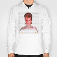 aladdin Hoodies featuring Bowie : Aladdin Sane Pixel by Stuff.