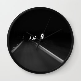Road at night Wall Clock