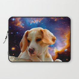 beagle puppy on the wall looking at the universe Laptop Sleeve