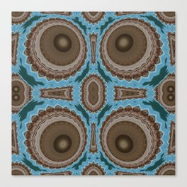 Brown Warts on Blue Pattern Canvas Print