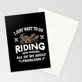 I Love Motorcycling Stationery Cards