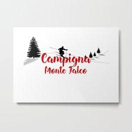 Ski at Campigna Monte Falco Metal Print