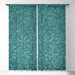 Sparkly Aqua Blue Turquoise Glitter Blackout Curtain