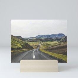 Winding Road Iceland Mini Art Print
