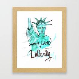 Sweet Land of Liberty Framed Art Print