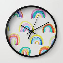 Rainbow Party Wall Clock