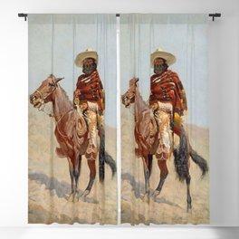"""Mexican Vaquero Horseman"" by Frederick Remington Blackout Curtain"