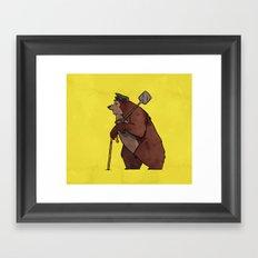 Worker Bear Framed Art Print
