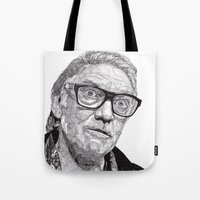snatch Tote Bags featuring Alan by Rik Reimert