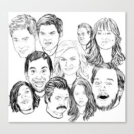 Parks and Recreation 'Rec a Sketch' Canvas Print