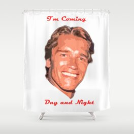 Coming Day and Night Shower Curtain