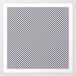 Peacoat Polka Dots Art Print