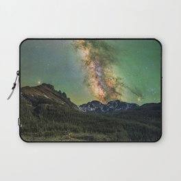Milky way over nokhu crags Laptop Sleeve