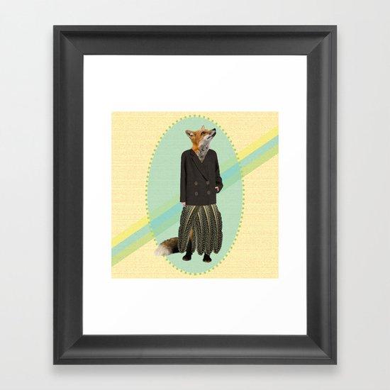 classy feather fox Framed Art Print