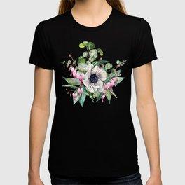 Gentille watercolor handpainted clipart, floral, flower, design, stylish, wedding, invitation T-shirt