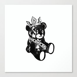 Bear King Splash Canvas Print