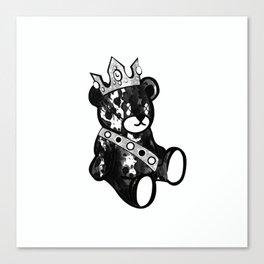 Bear King Splash Canvas Print