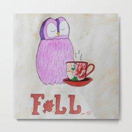 Fall in Love with Coffee Metal Print