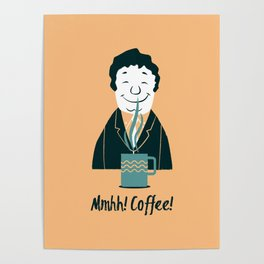 Coffee (yellow) Poster
