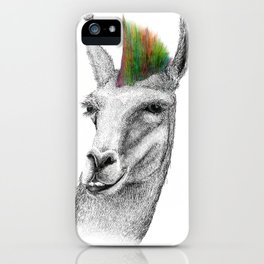 Llamahawk iPhone Case