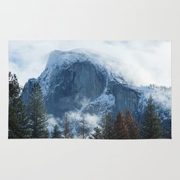 Ice-capped Half Dome at Sunrise | Yosemite National Park, California Rug