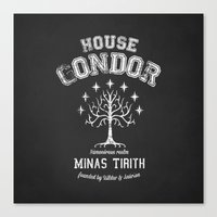 gondor Canvas Prints featuring House Gondor by Nxolab