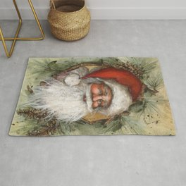 Rustic Santa Claus Rug