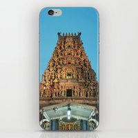 hindu iPhone & iPod Skins featuring HINDU TEMPLE by JChrst