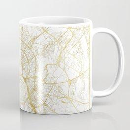 Moscow Map Gold Coffee Mug
