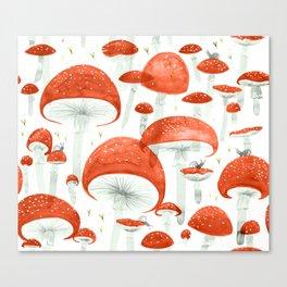 Mycelium Fruiting Bodies by Friztin © 2017 Canvas Print