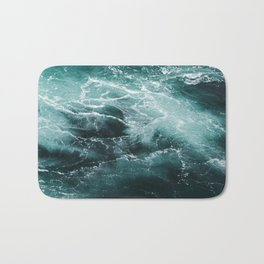 Water Photography | Sea | Ocean | Pattern | Abstract | Digital | Turquoise Bath Mat