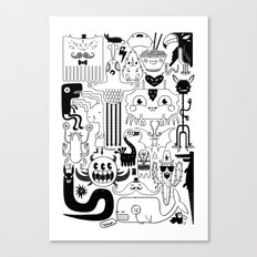 Monsters ink Canvas Print