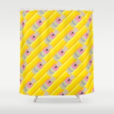 Pencil Pattern Shower Curtain