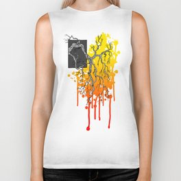Liquid Autumn Leaves (Light) Biker Tank