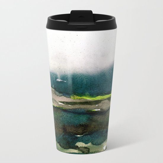 layers of colour 1 Metal Travel Mug