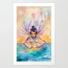 Goldenmilk Art Print