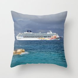 Norwegian Sun - Great Stirrup Cay Throw Pillow