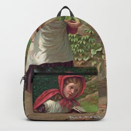 Little Red Riding Hood and the wolf Backpack