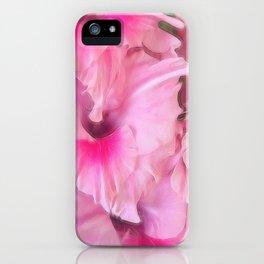 Light Pink Gladiolas iPhone Case