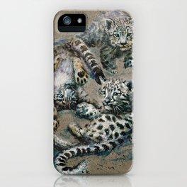 Snow leopard 2 background iPhone Case
