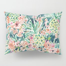 PINEAPPLE PARTY Lush Tropical Boho Floral Pillow Sham