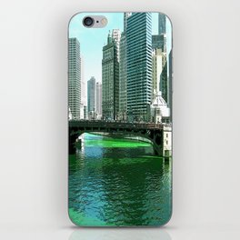 Chicago River on St. Patrick's Day #Chicago iPhone Skin